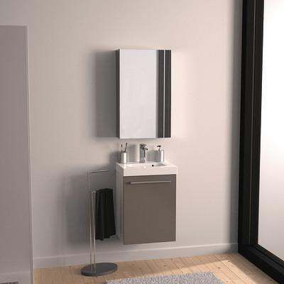 Mobile bagno Remix 1 anta L 46 x P 35.5 x H 58 cm bianco/talpa ...