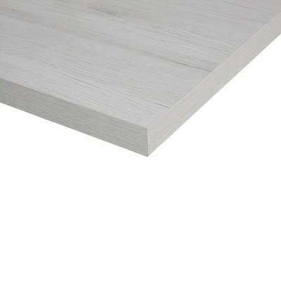 Piano cucina su misura laminato bianco rovere 6 cm prezzi e offerte online - Piano cucina laminato ...