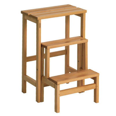 Sgabello in legno 3 gradini valdomo su e gi prezzi e for Perline legno leroy merlin