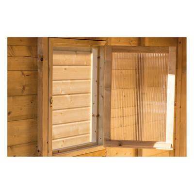 Casetta in legno giulia 290 x 300 cm spessore 19 mm for Perline legno leroy merlin