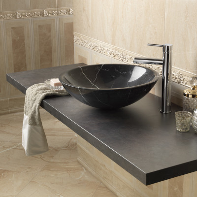 Lavabo da appoggio pietra nero prezzi e offerte online - Mobile lavabo leroy merlin ...