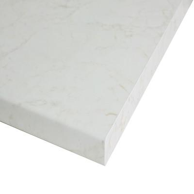 Piano cucina su misura laminato marmo onice bianco 6 cm - Piano marmo cucina ...