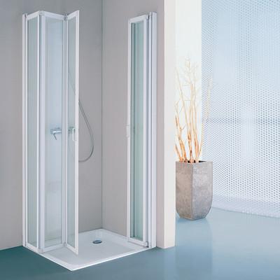 Box doccia los pieghevole trasparente bianco 68 72 x 88 92 for Box doccia 70 x 70 leroy merlin