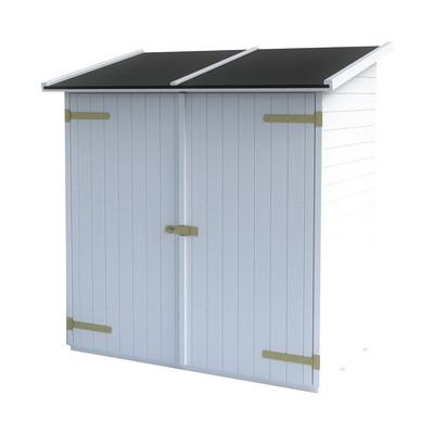 Casetta in legno lerici bianca 165 x 98 cm spessore 14 mm for Piastrelle plastica giardino leroy merlin
