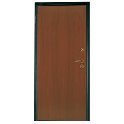 Porta blindata alarm noce l 80 x h 210 cm dx prezzi e - Rivestimento porta blindata leroy merlin ...