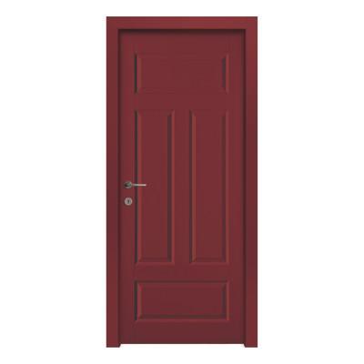 Porta da interno battente coconut groove red rosso 90 x h - Porte da interno offerte ...