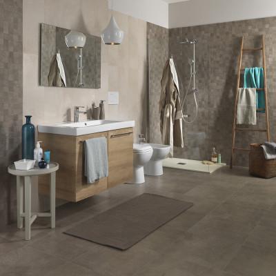Piastrella vision 45 x 45 grigio talpa prezzi e offerte online - Pannelli copri piastrelle bagno ...