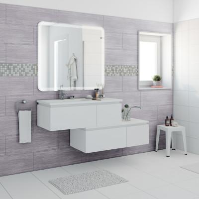 Mobile bagno avril bianco l 100 cm prezzi e offerte online for Bianco leroy merlin