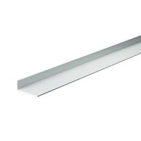 Profilo a L in alluminio argento, L 40 x H 15 x S 1,5 mm x P 1 m