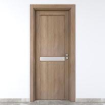 Porta da interno battente Spyhole sand larice sabbia 70 x H 210 cm sx