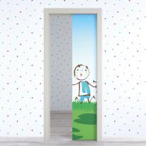 Porta da interno scorrevole Junior 70 x H 210 cm reversibile