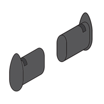 Tappi per barra Element System grigio