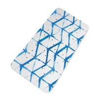 Tappeto antiscivolo vasca Shibori blu