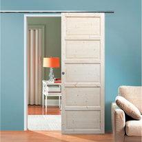 Porta da interno scorrevole Bizet grezza 96 x H 220 cm reversibile