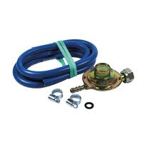 Kit regolatore taratura fissa con tubo per butano CH25 1 KG/H 29 bar 150 cm