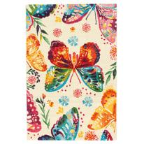 Tappeto Farfalle crema 133 x 190 cm