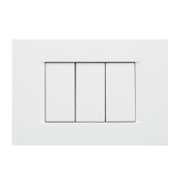 Placca 3 moduli FEB Flat bianco