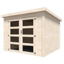 casetta in legno grezzo Viola 5,96 m², spessore 28 mm