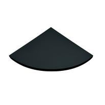 Mensola angolare Spaceo nero L 25 x P 25, sp 1,8 cm