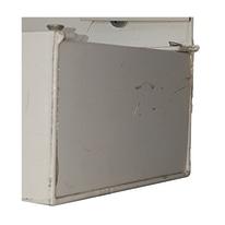 Kit due chiusure laterali grondaie in alluminio 12 x 10  cm, spessore 2 mm