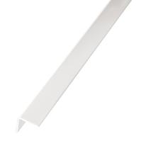 Profilo angolare a L in PVC bianco, L 22 x H 22 x S 1 mm x P 2,6 m