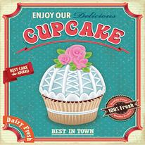 quadro su tela Blu cupcake 40x40