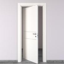 Porta da interno rototraslante Two Lines bianco 70 x H 210 cm sx