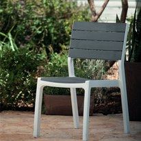 Sedia impilabile Harmony bianco e tortora