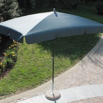 Ombrellone 2,2 x 1,2 m grigio