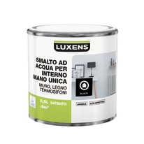 Smalto manounica Luxens all'acqua Nero satinato 0.5 L