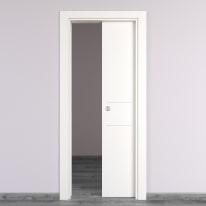 Porta da interno scorrevole Two Lines bianco 70 x H 210 cm reversibile