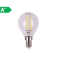 2 lampadine LED E14 =40W sfera luce naturale 360°