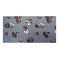 Tappetino cucina antiscivolo Full cuore grigio 55 x 280 cm