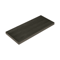 Mensola Spaceo rovere scuro L 96 x P 23,7, sp 2,2 cm