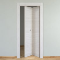 Porta da interno pieghevole Pigalle palissandro bianco 80 x H 210 cm dx