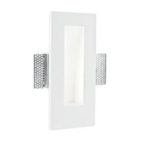 Faretto incasso gesso Ariel-ql1 bianco fisso rettangolare 24 x 11 cm