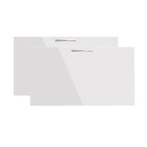 Set 2 ante bianco lucido per scarpiera componibile Puzzle