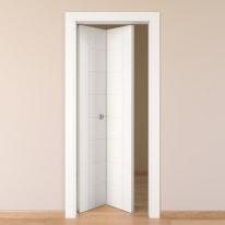 Porta da interno pieghevole Chamberì bianco 70 x H 210 cm sx