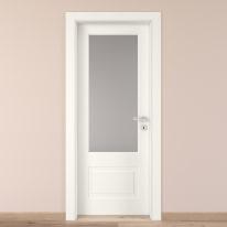 Porta da interno battente Shibuya Vetro Bianco 60 x H 210 cm sx
