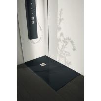 Piatto doccia resina Liso 110 x 100 cm antracite
