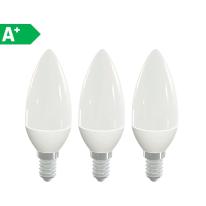 3 lampadine LED Lexman E14 =40W oliva luce naturale 300°