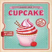 quadro su tela Cupcake 40x40