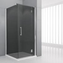 Porta doccia battente Modulo 76.5-79,5, H 195 cm cristallo 6 mm fumè/cromo