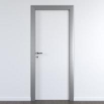 Porta per ufficio battente Frame eco bianco 70 x H 210 cm dx