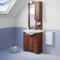 Mobile bagno Laura marrone L 76,5 cm