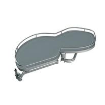 Estraibile 2 cesti per base angolare per cucine Delinia per modulo da 40 cm
