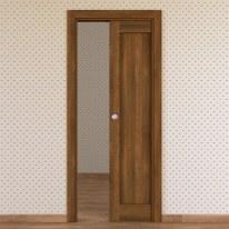 Porta da interno scorrevole Sargas noce 80 x H 210 cm reversibile