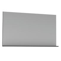 Specchio Opale grigio lucido 120 x 76 cm