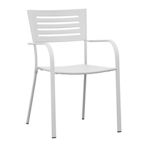 Sedia impilabile CHF 16B con braccioli bianco