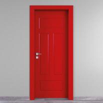 Porta da interno battente Coconut Groove rosso 90 x H 210 cm dx